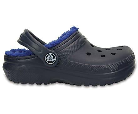 Crocs Kids' Classic Lined Clog Navy Cerulean Blue