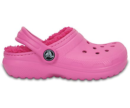 Crocs Kids' Classic Lined Clog Party Pink Candy Pink