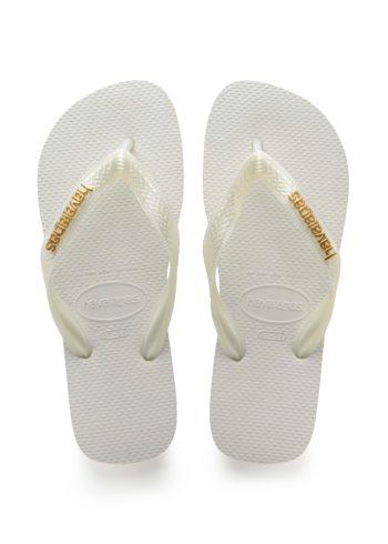 Havaianas Logo Metallic White Gold 4127244 - 0001