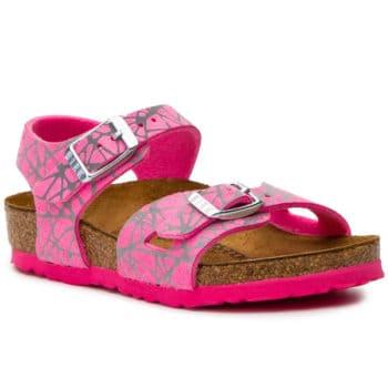 Birkenstock Classic Kids Rio Reflective Lines Pink