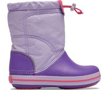 Crocs Crocband LodgePoint Boot Kids Lavender Neon Purple 203509 - 5P8