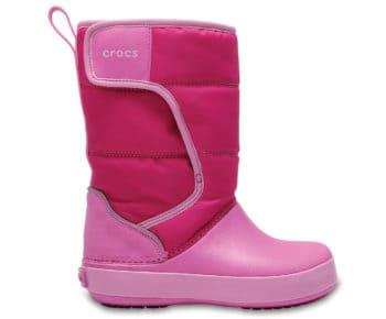 Crocs Crocband LodgePoint Snow Boot Kids Candy Pink 204660 - 6LR