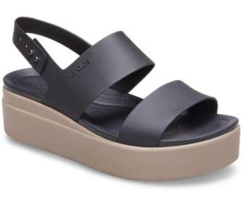 Crocs Brooklyn Low Wedge Black / Mushroom 206453 - 07H
