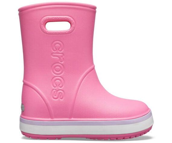 Crocs Crocband Rain Boot Kids Pink Lemonade Lavender 205827 - 6QM