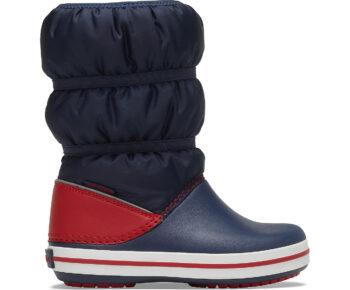 Crocs Crocband Winter Boot Kids Navy Red 206550 - 485