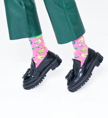 Happy Socks Banana Bird Sock Pink BAB01-3300