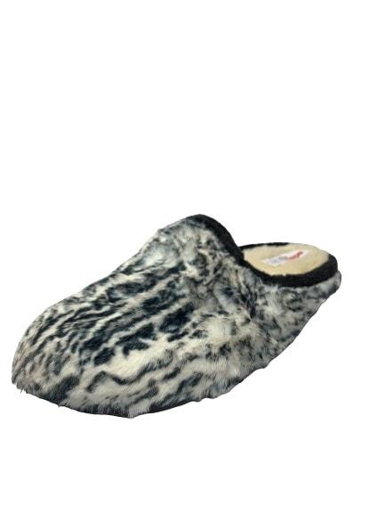 Adams Shoes Fluffy Zebra Slippers