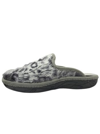 Adams Shoes Fluffy Leopard shiny Gray
