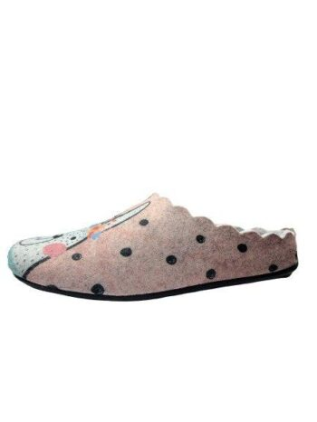 Adams Shoes Llama Felt Wool Slippers Rose