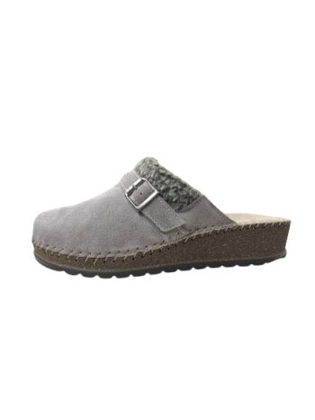 Adams Shoes Leather Orthopedic Slippers Taupe