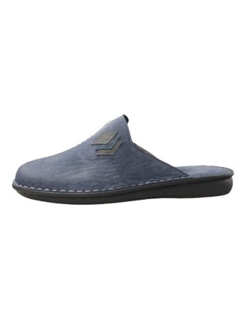 Adams Shoes Leather Slipper Navy