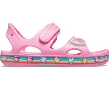 Crocs Fun Lab Rainbow Sandal Kids Pink Lemonade 206795 - 669