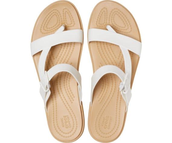 Crocs Tulum Toe Post Sandal Oyster Tan 206108 - 1CQ