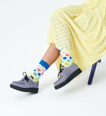 Happy Socks Big Dot Sock Colourful White BDO01-1370
