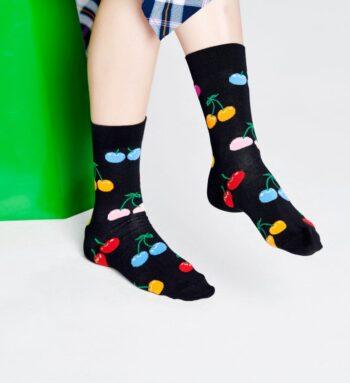 Happy Socks Cherry Sock Black CHE01-9002