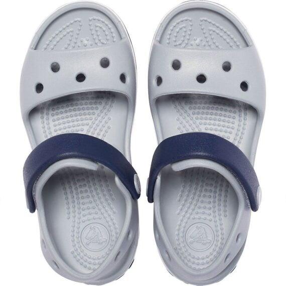 Crocs Crocband Sandal Kids Light Grey Navy 12856 - 01U
