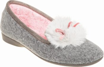 Adams Shoes Closed-Back Fancy Slippers Grey 716-21534